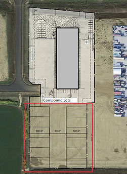 Storage Yard lots in Acheson Alberta Storage yards, secure outside storage compounds for lease
