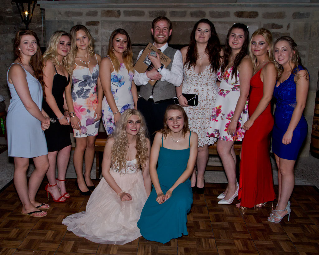 Sixth form prom group photo