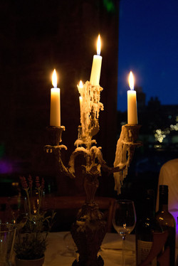 Candles at dinner