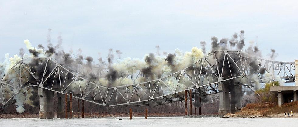 Bridge demolition