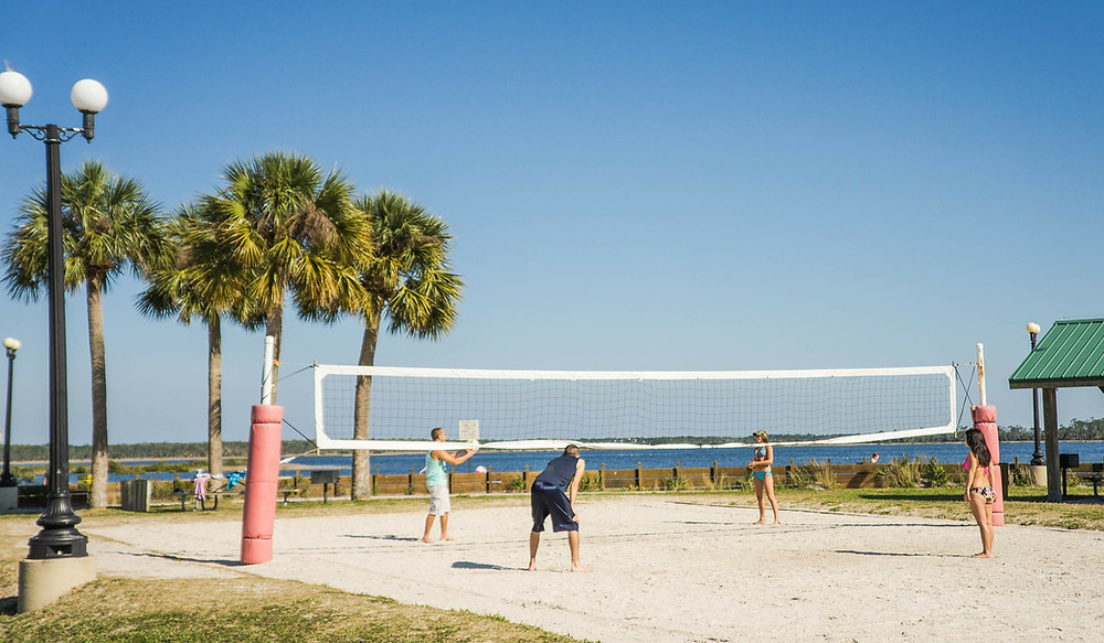 Watch beach volleyball near your Leesburg rental