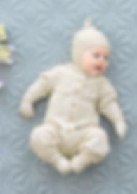 Babydress Hentesett Babyull Lanett Sandnes Garn