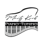 Marty Korb Piano Tuning Logo WHITE KEYS.