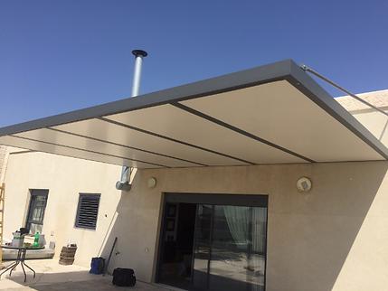 פנל גג משולב בפרגולה צפה