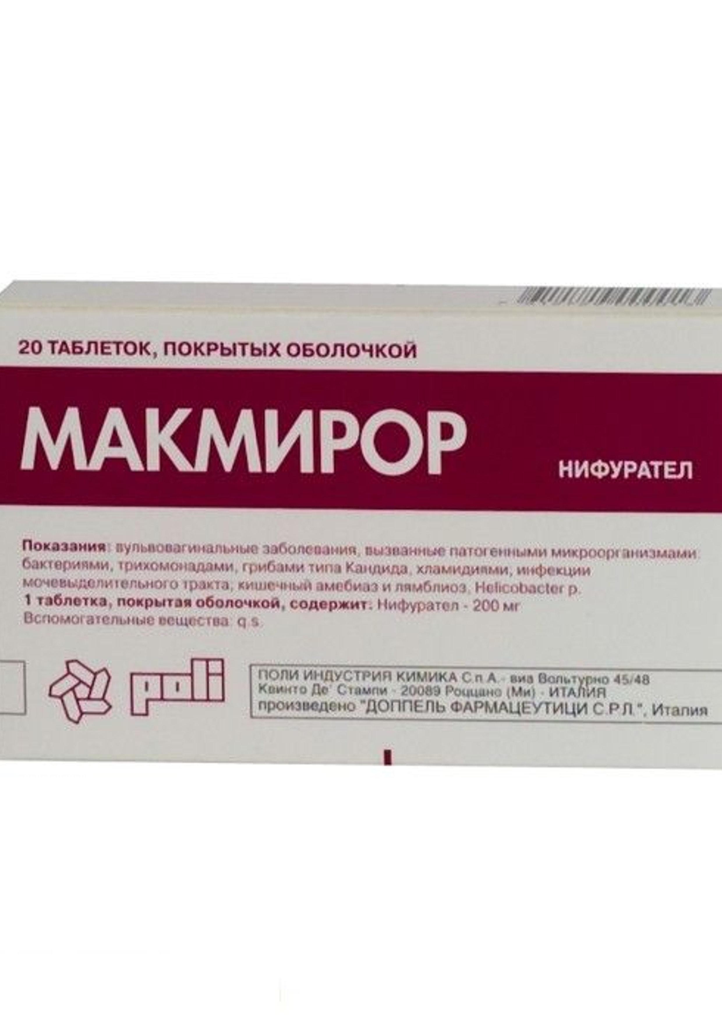 makmiror tabletták giardiasishoz)