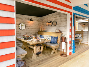 Hut's Off to this summer's coolest hotspot - The Berkeley Beach Huts at The Berkeley