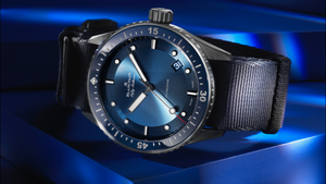 Explore the depths of the ocean with the new Blancpain Fifty Fathoms Bathyscaphe Bucherer BLUE
