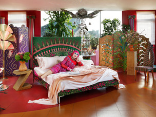 Iconic bed maker Savior teams up with the 'Princess of punk' Dame Zandra Rhodes