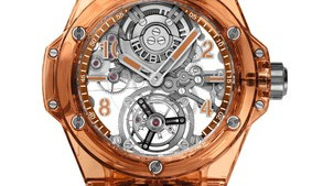 Hublot unveils world's first orange sapphire case
