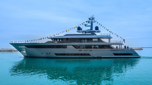 Riva Fifty - The new 50m flagship M/Y hits the water in Ancona Italy