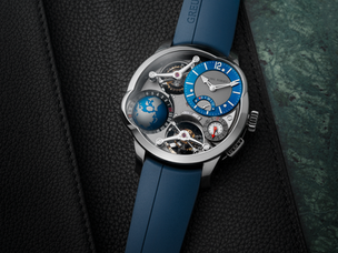 Titanium and blue, Greubel Forsey unveils the new limited edition GMT Quadruple Tourbillon