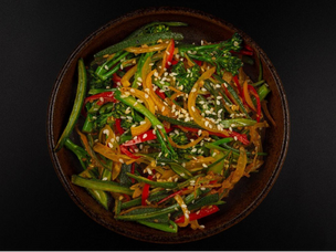 Recipe: Stork Mayfair's sauté okra, chilli & tenderstem greens