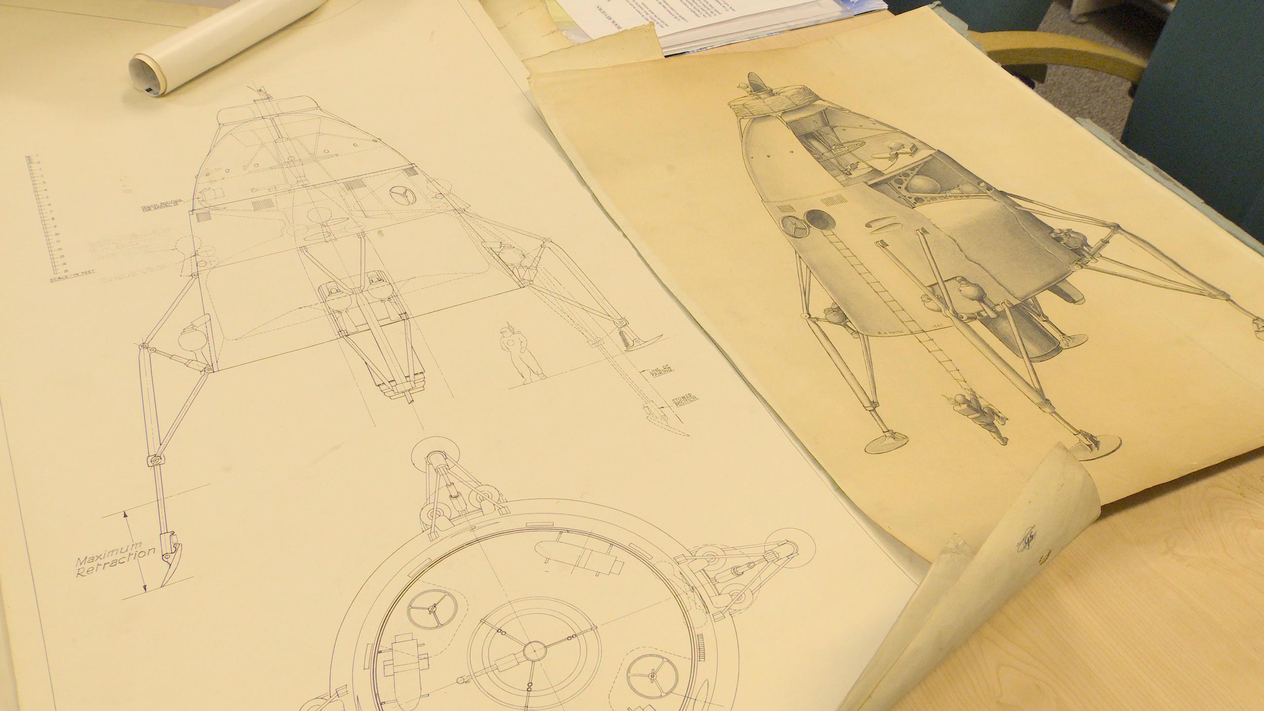 イギリスが計画していた月面着陸の設計図と絵