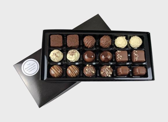 Milk And White Chocolates Box of 18