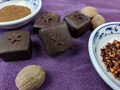 Handmade spiced chocolate truffle