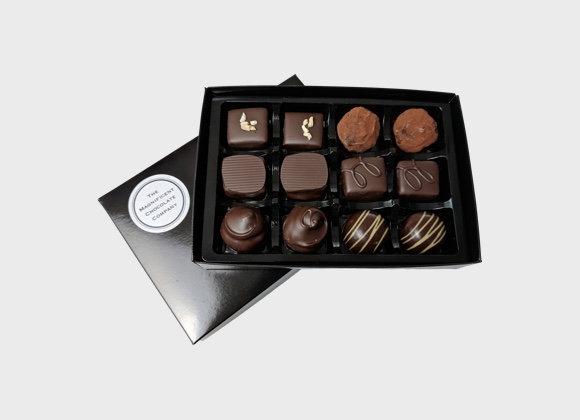 Dark Luxury Chocolates Box of 12