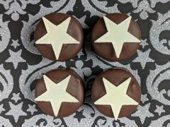 Handmade chocolate mince pie truffle