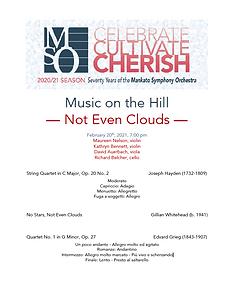 Not Even Clouds Concert Program