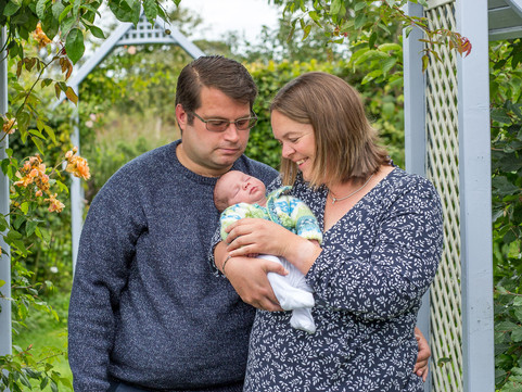 Charlies newborn session at Holme for Gardens
