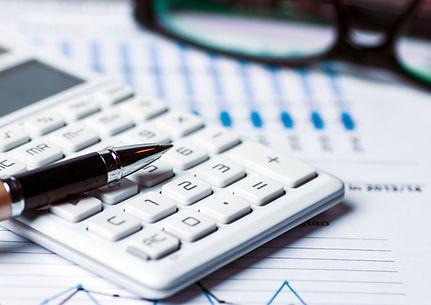 calculator with data sheet