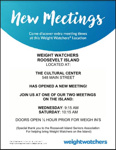 Weight Watchers New Meetings