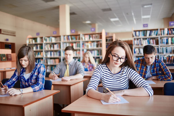Gli studenti sostenere gli esami