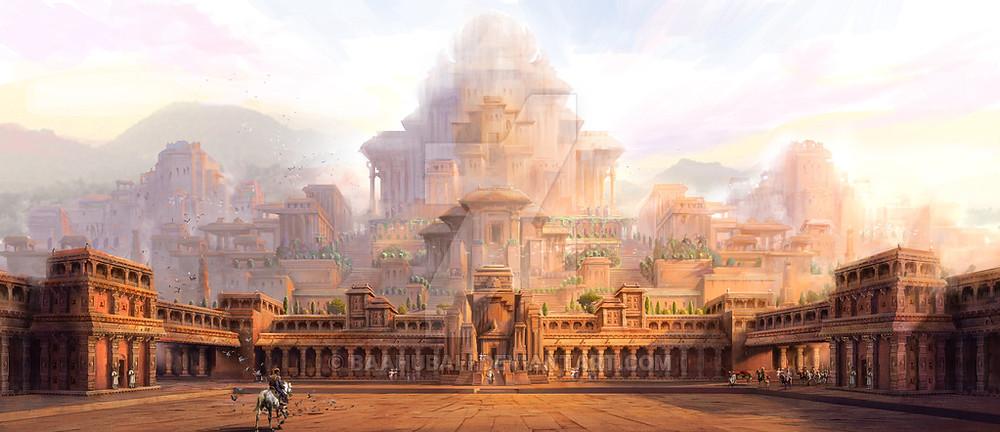 【Mahishmathi kingdom】 (圖片來源:http://baahubali.deviantart.com)