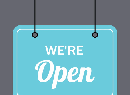 We're Open in May!