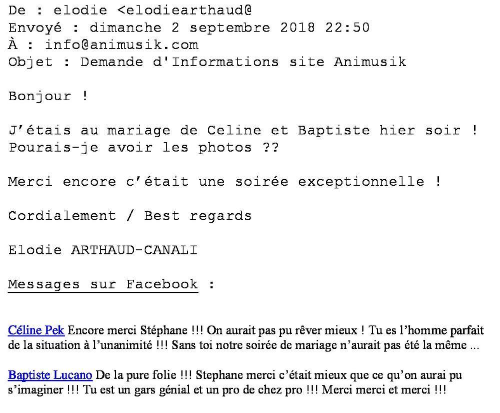 mariage à Boussy avec Animusik septembre 2018