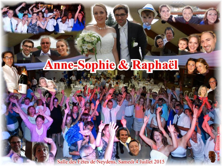 Mariage CUSIN Raphaël & Anne-Sophie (Neydens) (04-07-2015)