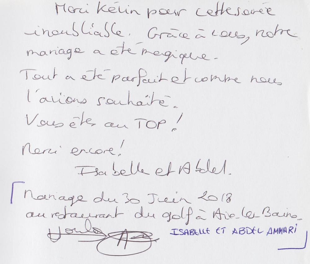 mariage à Aix-les Bains avec Animusik