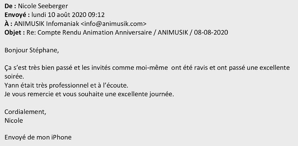anniversaire avec Animusik Août 2020