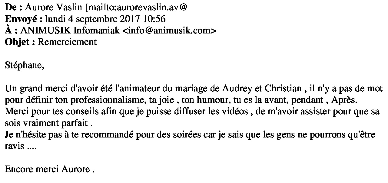 Mariage Audrey & Christian 02.09.17
