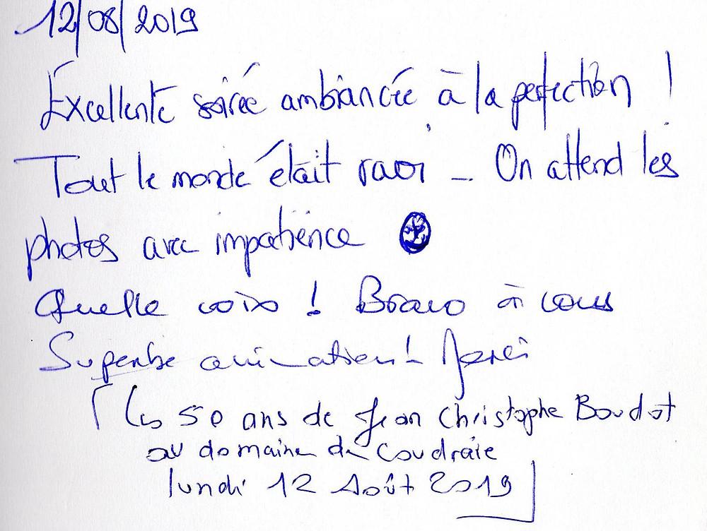 anniversaire à Coudrée avec Animusik Août 2019