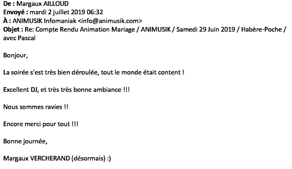 mariage à Habère-Poche avec Animusik Juin 2019