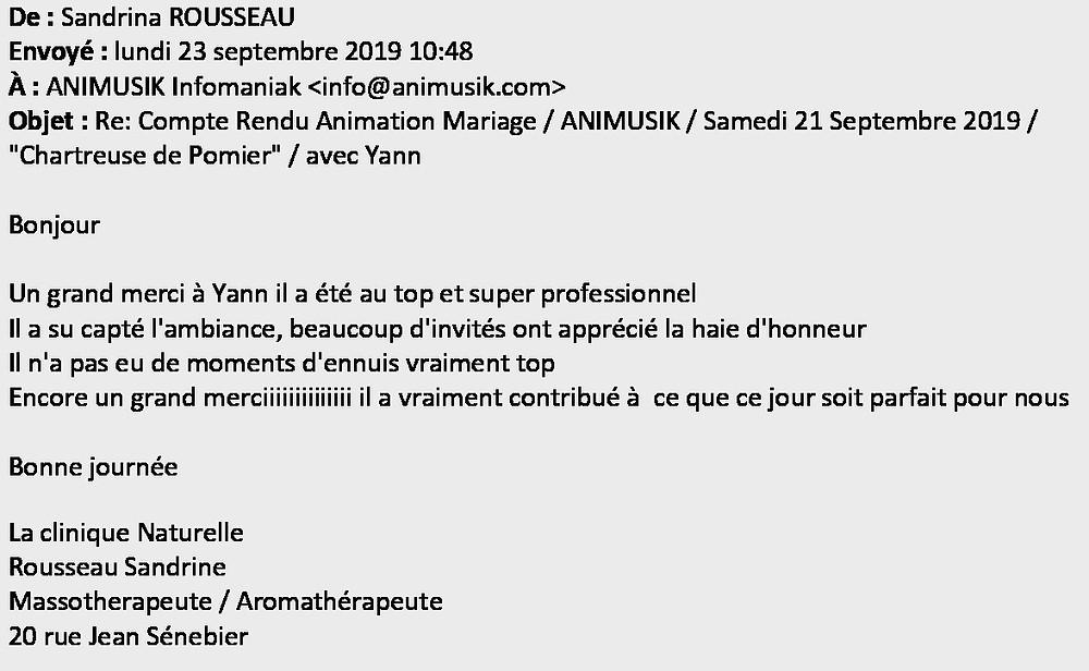 mariage Chratreuse de Pomier Animusik Sept. 2019