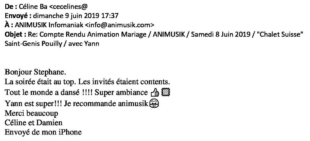 mariage à St-Genis avec Animusik Juin 2019