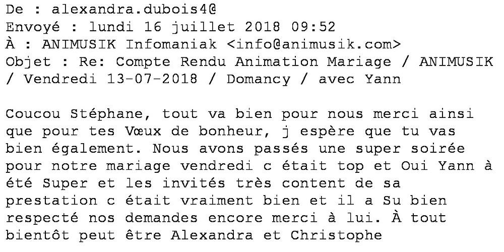 mariage à Domancy avec Animusik 2018