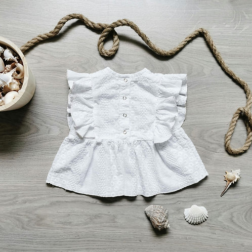 Blouse Albane broderie anglaise 1/7ans
