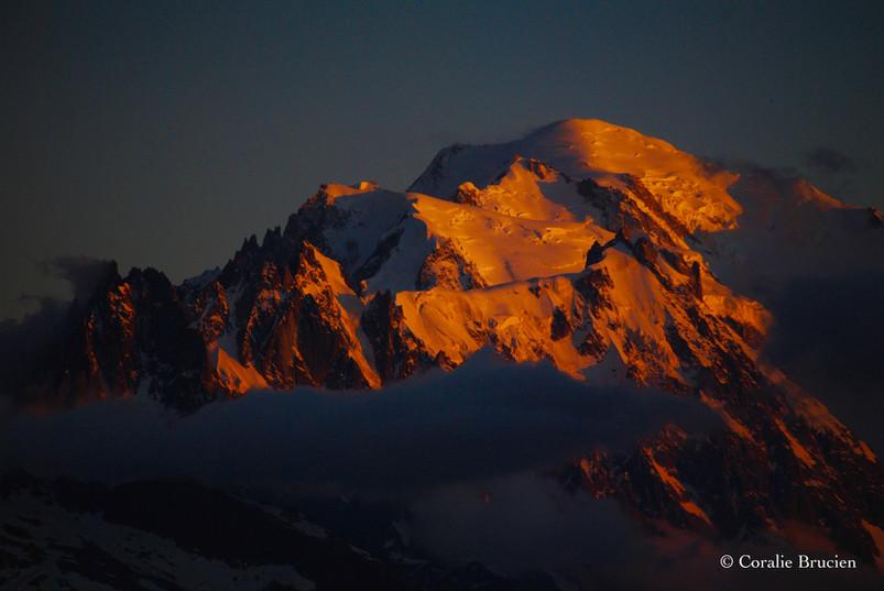 Coucher du Soleil sur le Mont-Blanc
