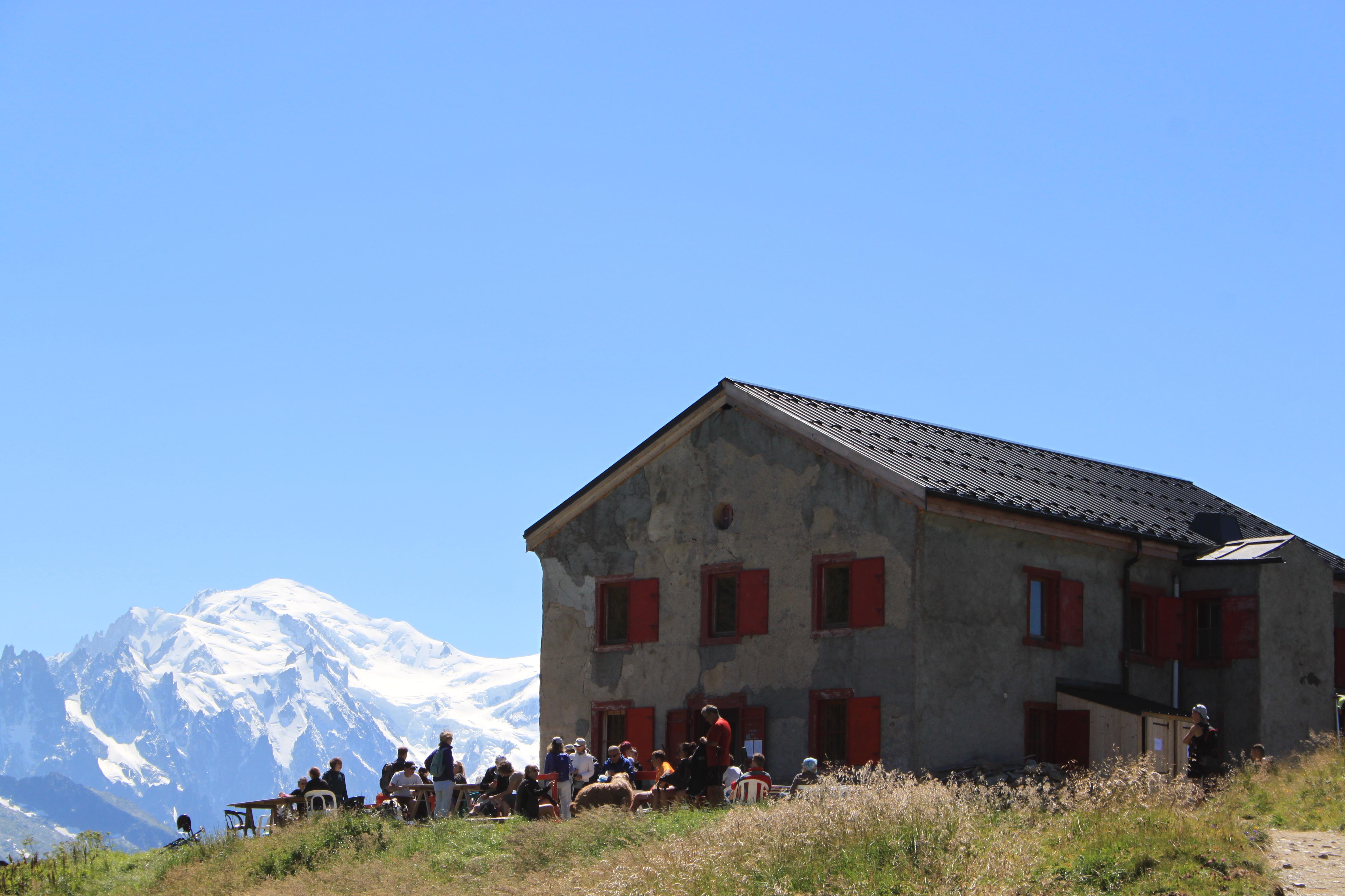 Le Refuge et le Mont-Blanc