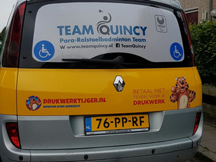 TeamQuincy bedankt zijn sponsoren