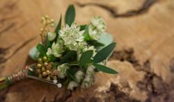 Copper & Flowers Button Hole