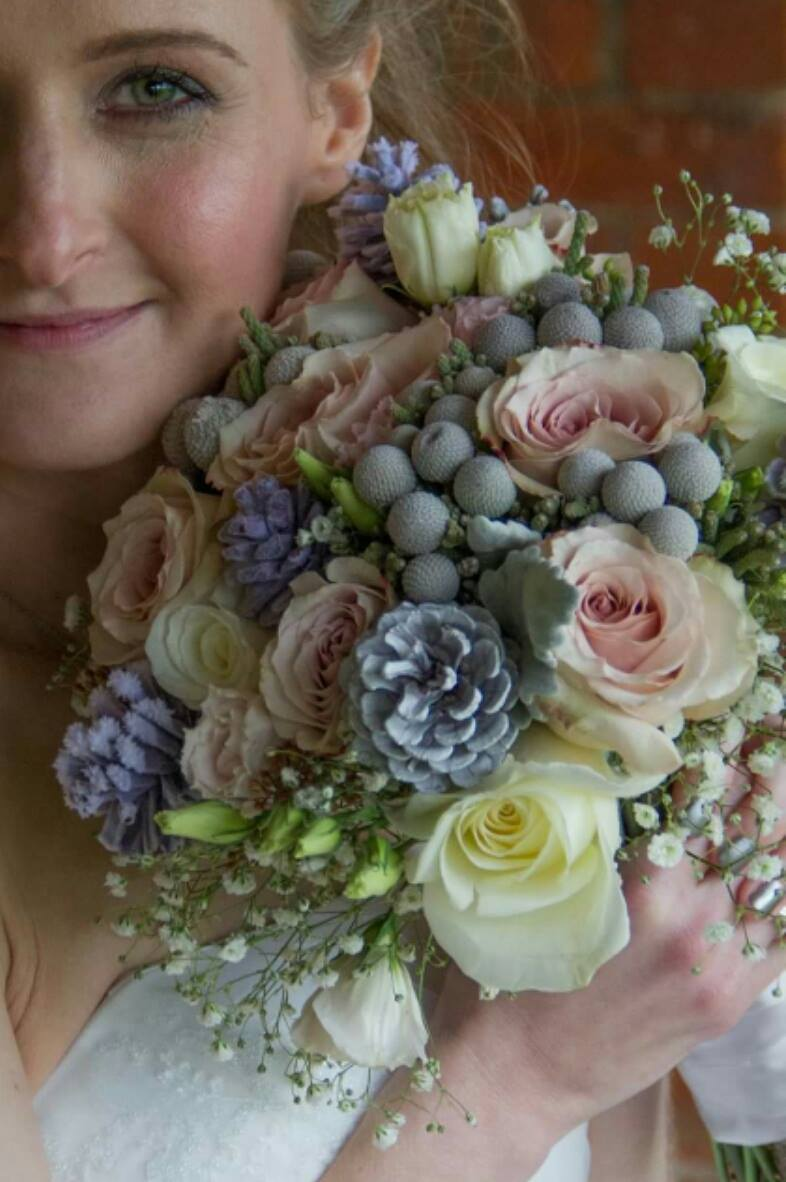 Dusky Winter Wedding Bouquet