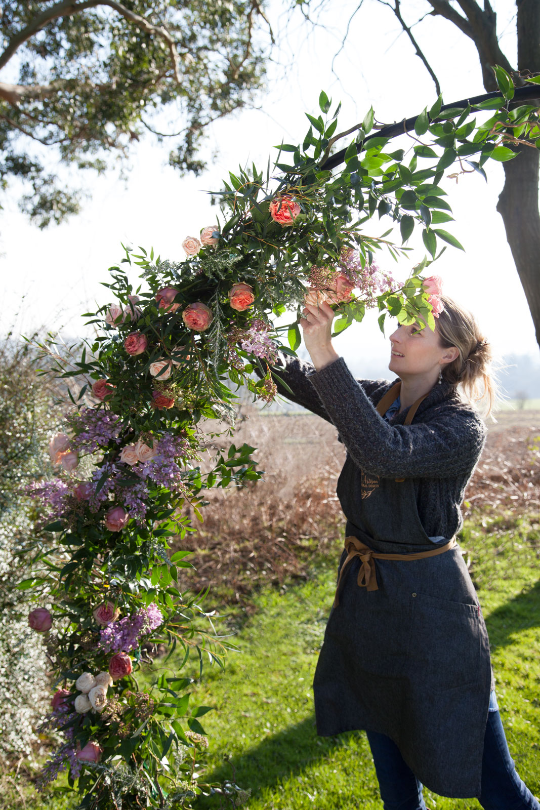 Floral Artisan Ceremony Moon Gate