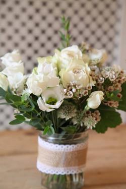 Wedding Flower Jam Jar