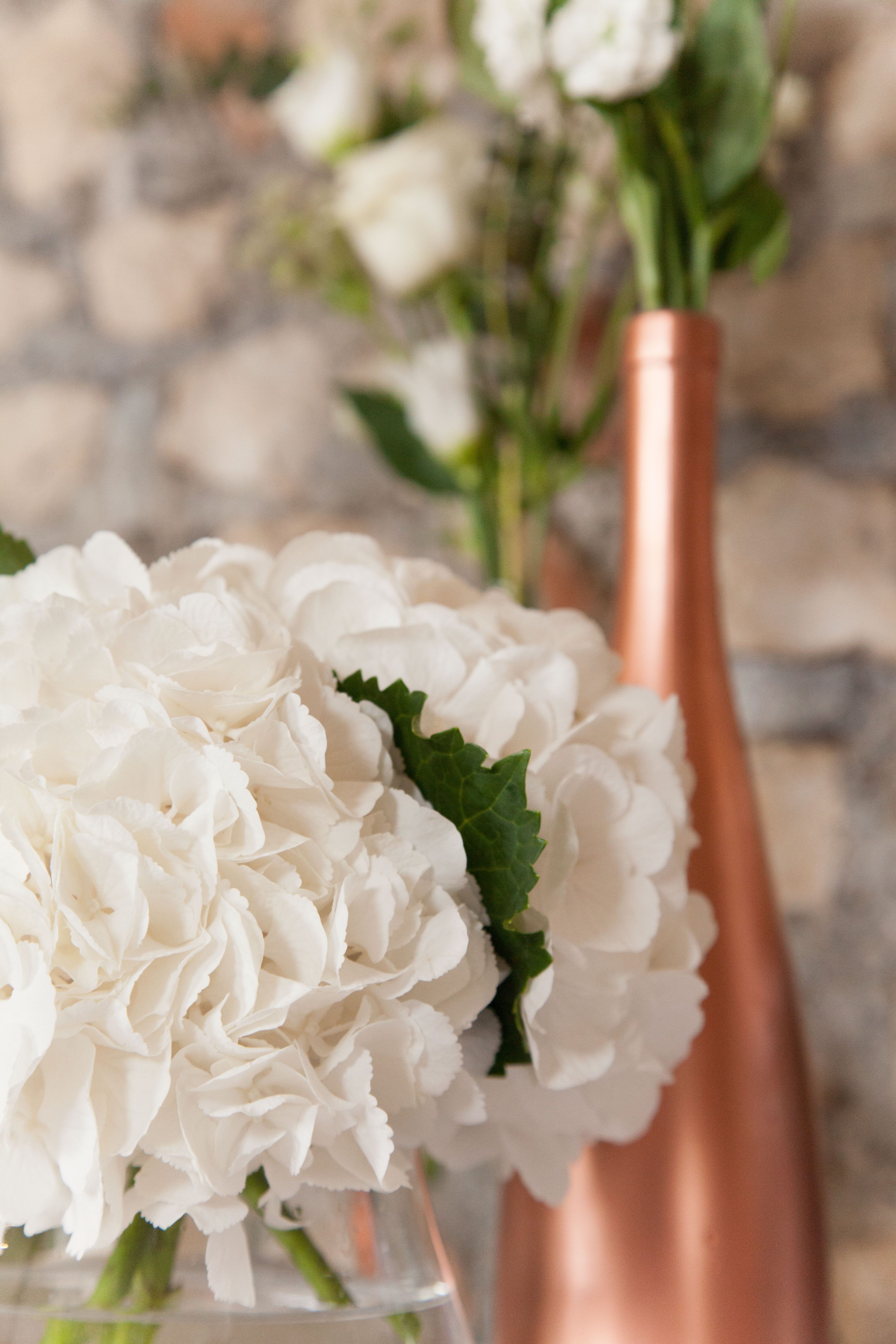 White & Copper Flower Arrangement