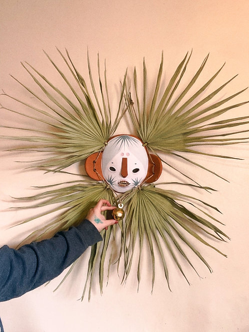 With Time Fan Palm Mask