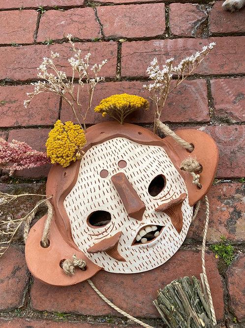 Kitchen Garden Mask with Daisy Broom