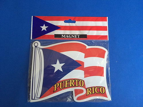 Magnet with flag from  Puerto Rico - Iman con bandera de P.R.